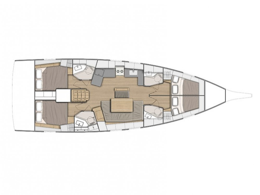 Boat rental Bénéteau Oceanis 461 in Volos on Samboat