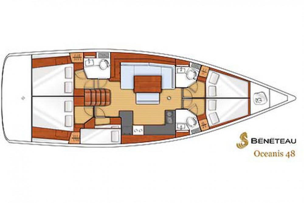 Boat rental Bénéteau Oceanis 48 in Marina Kaštela on Samboat