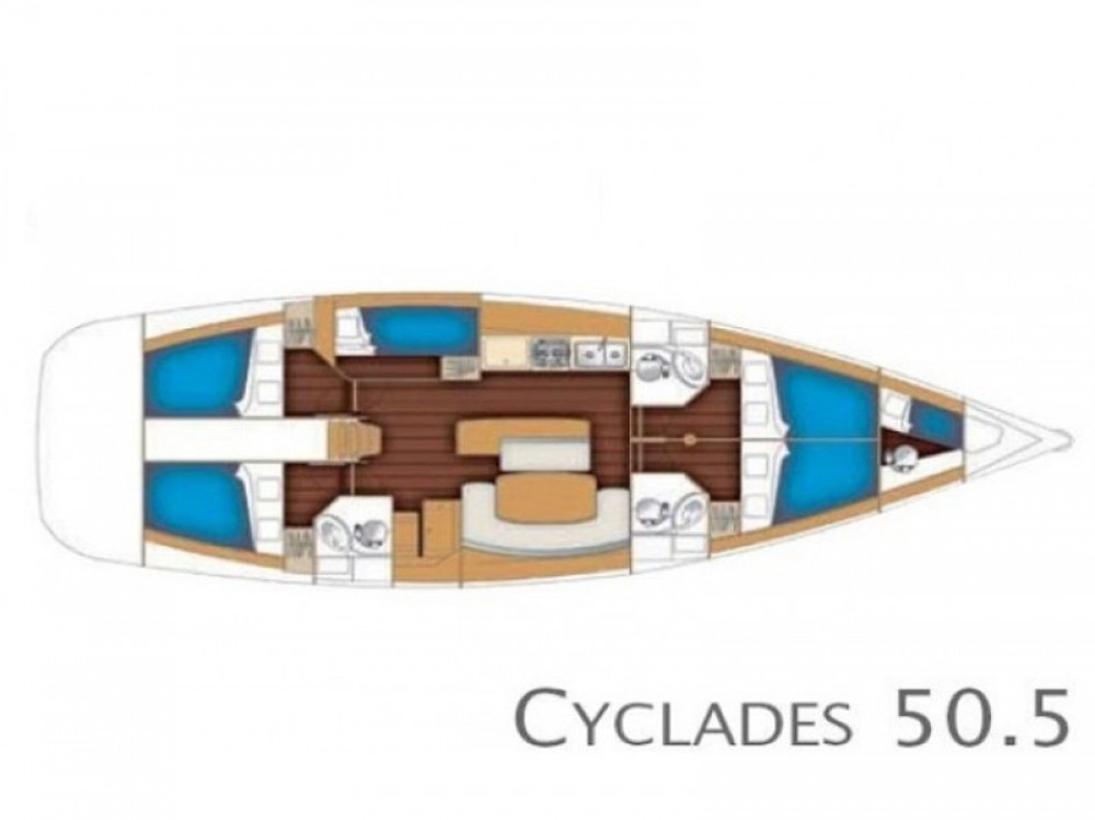 Rental yacht Álimos - Bénéteau Cyclades 50.5 on SamBoat