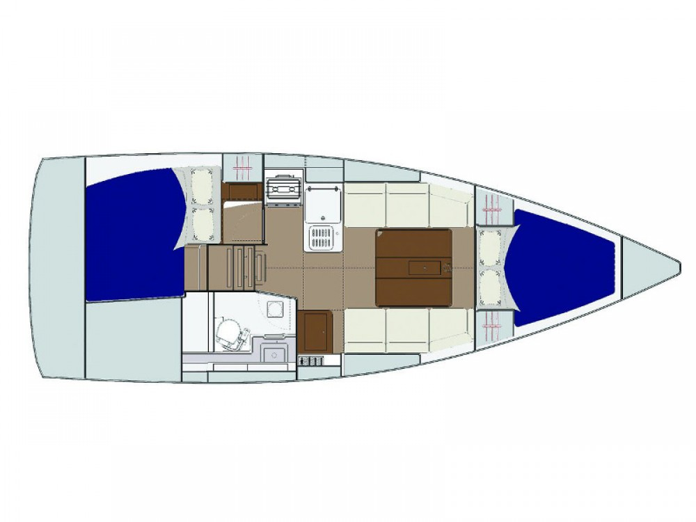 Rental yacht Reimerswaal - Dufour Dufour 310 Grand Large on SamBoat