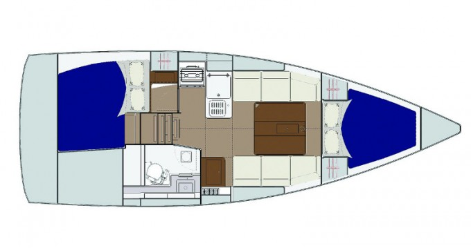 Hire Sailboat with or without skipper Dufour Yerseke