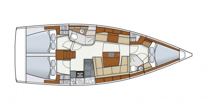 Boat rental Follonica cheap Hanse 415