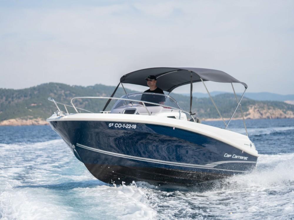 Jeanneau Cap Camarat 5.5 WA S2 between personal and professional Ibiza