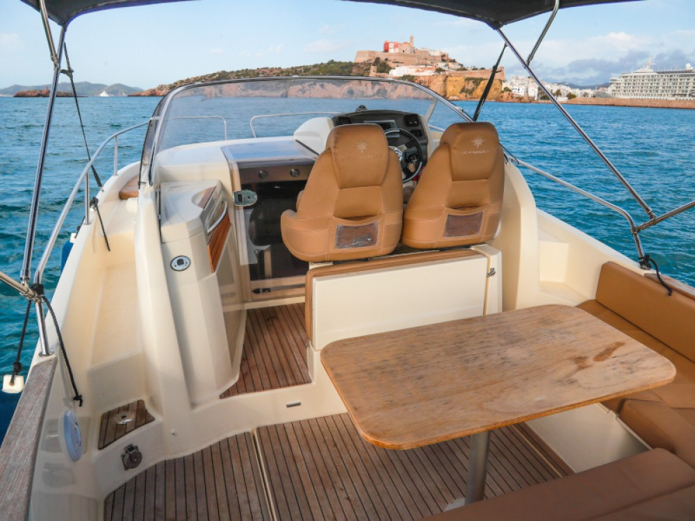 Jeanneau Cap Camarat 8.5 WA between personal and professional Ibiza