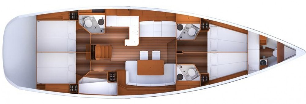 Rental Sailboat in Komolac - Jeanneau Jeanneau 53