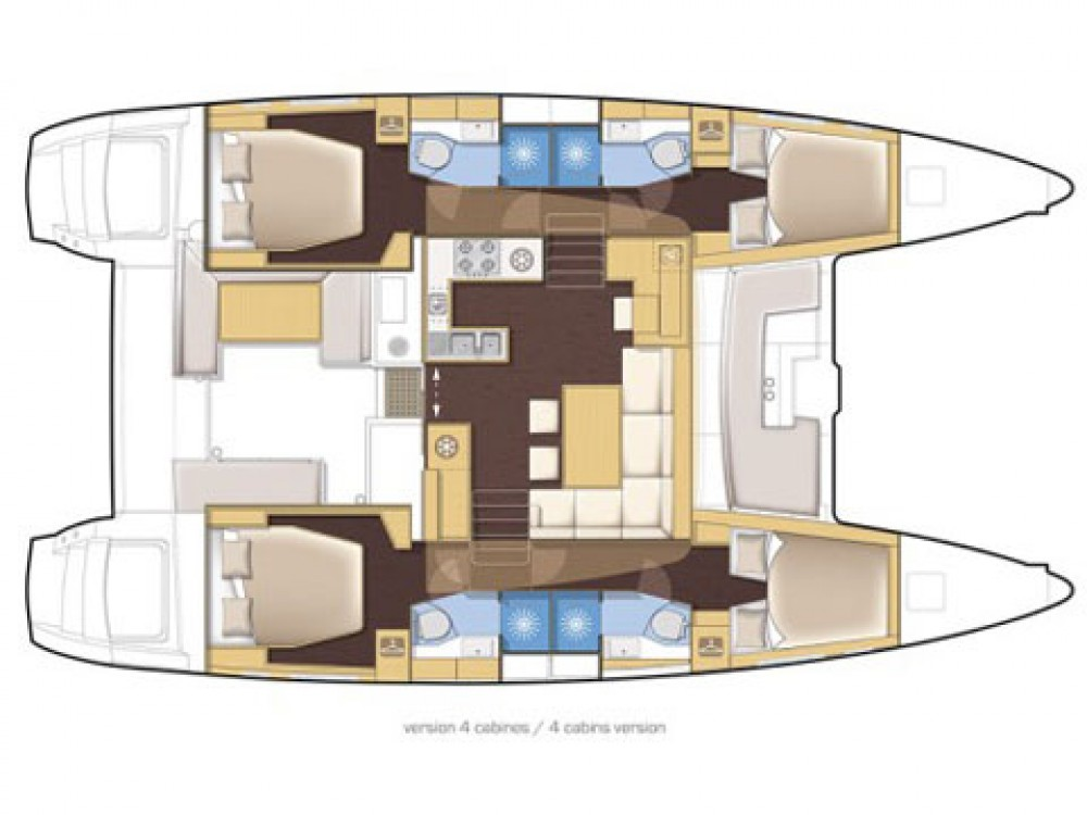 Rental yacht Dubrovnik - Lagoon Lagoon 450  Flybridge on SamBoat
