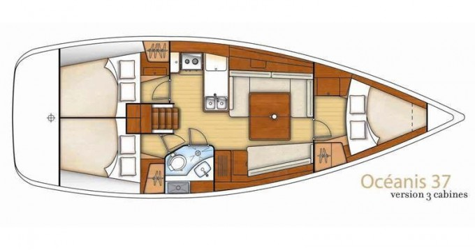 Boat rental Sukošan cheap Oceanis 37