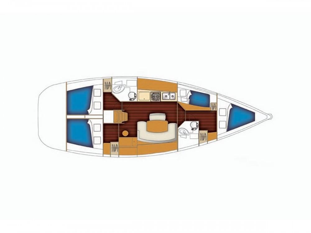 Rental yacht Lávrio - Bénéteau Cyclades 434 on SamBoat