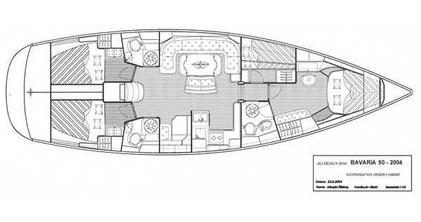 Boat rental Bavaria Bavaria 50-4 CBS Cruiser in Kos on Samboat