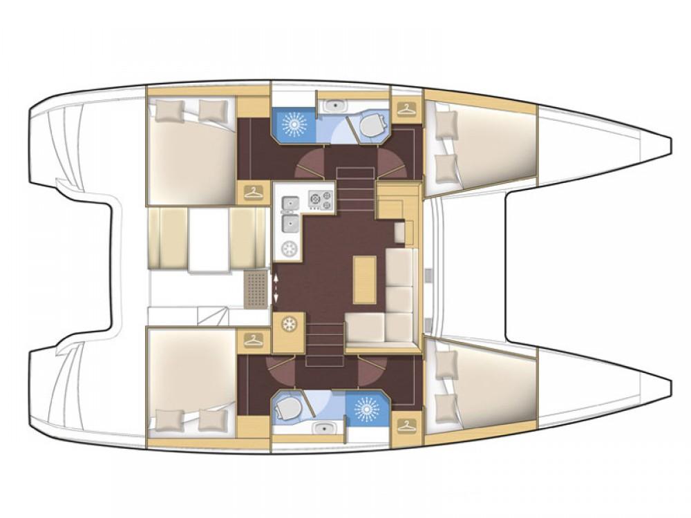 Rental Catamaran in Ródos - Lagoon Lagoon 39