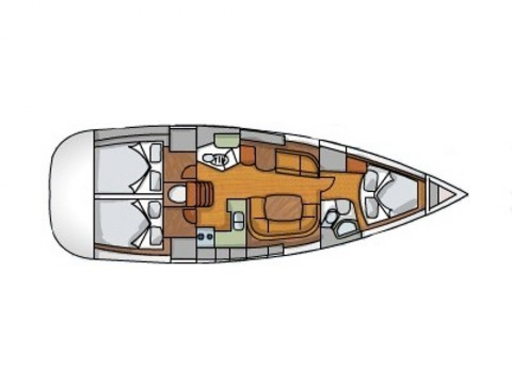 Jeanneau Sun Odyssey 42i between personal and professional Kos