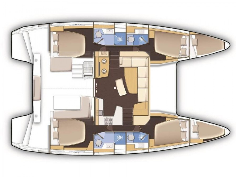 Hire Catamaran with or without skipper Lagoon Sochi