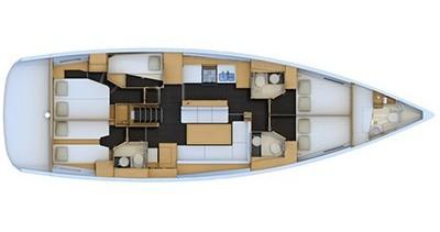 Boat rental Kos cheap Jeanneau 54
