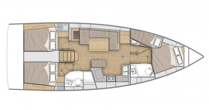 Rental yacht  - Bénéteau Oceanis 40.1 on SamBoat