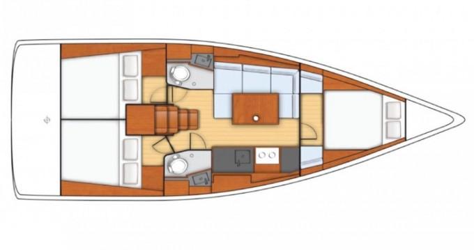 Rental yacht Pomer - Bénéteau Oceanis 38 on SamBoat