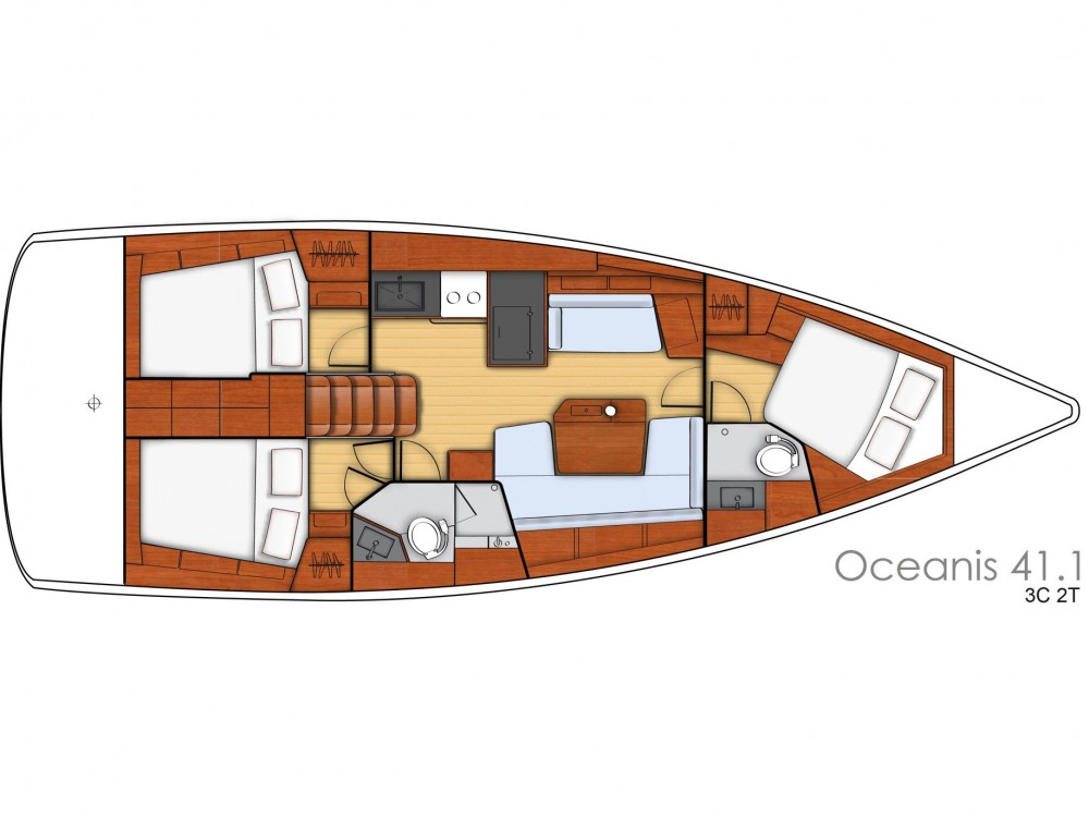 Rental Sailboat in ACI Marina Split - Bénéteau Oceanis 41.1