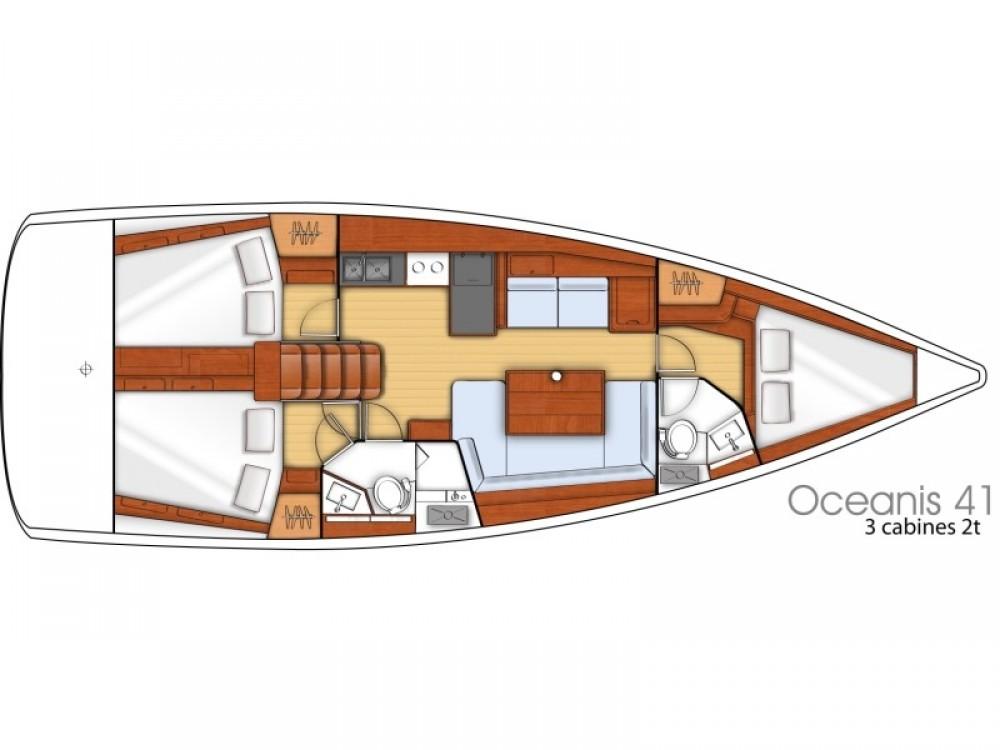 Boat rental ACI Marina Split cheap Oceanis 41
