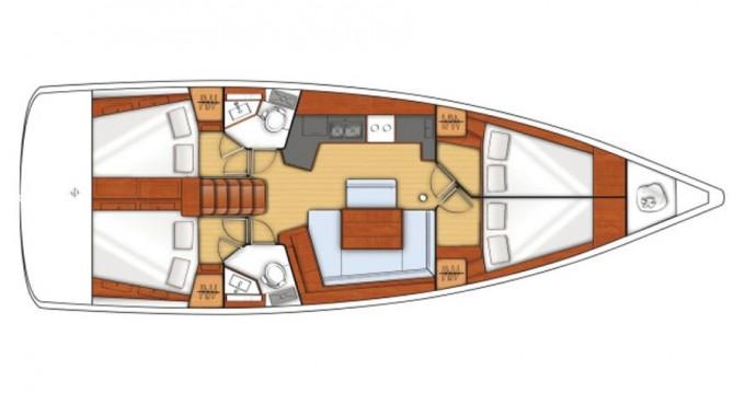 Boat rental Bénéteau Oceanis 45 in Paros Island on Samboat