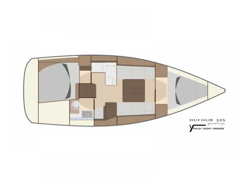 Rental Sailboat in Rogoznica - Dufour Dufour 335 Grand Large