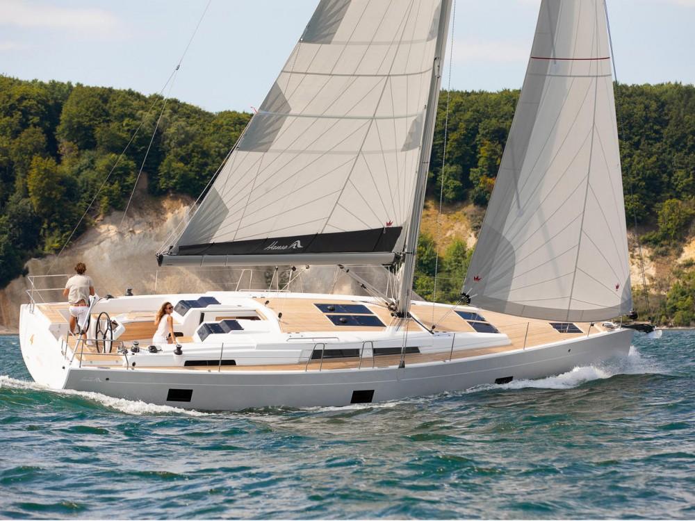 Rental Sailboat in Marina Gouvia - Hanse Hanse 458