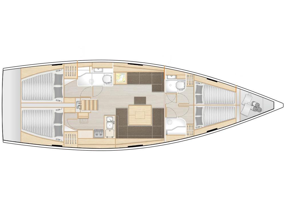 Hire Sailboat with or without skipper Hanse Marina Gouvia
