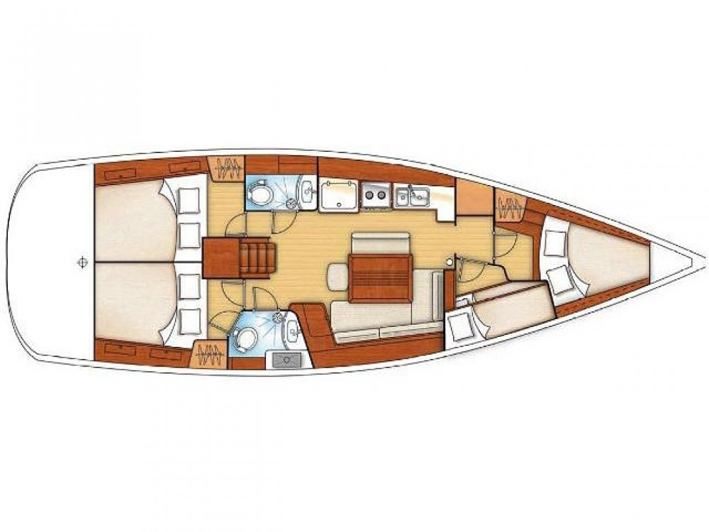 Boat rental  cheap Oceanis 43 (4 cbs)