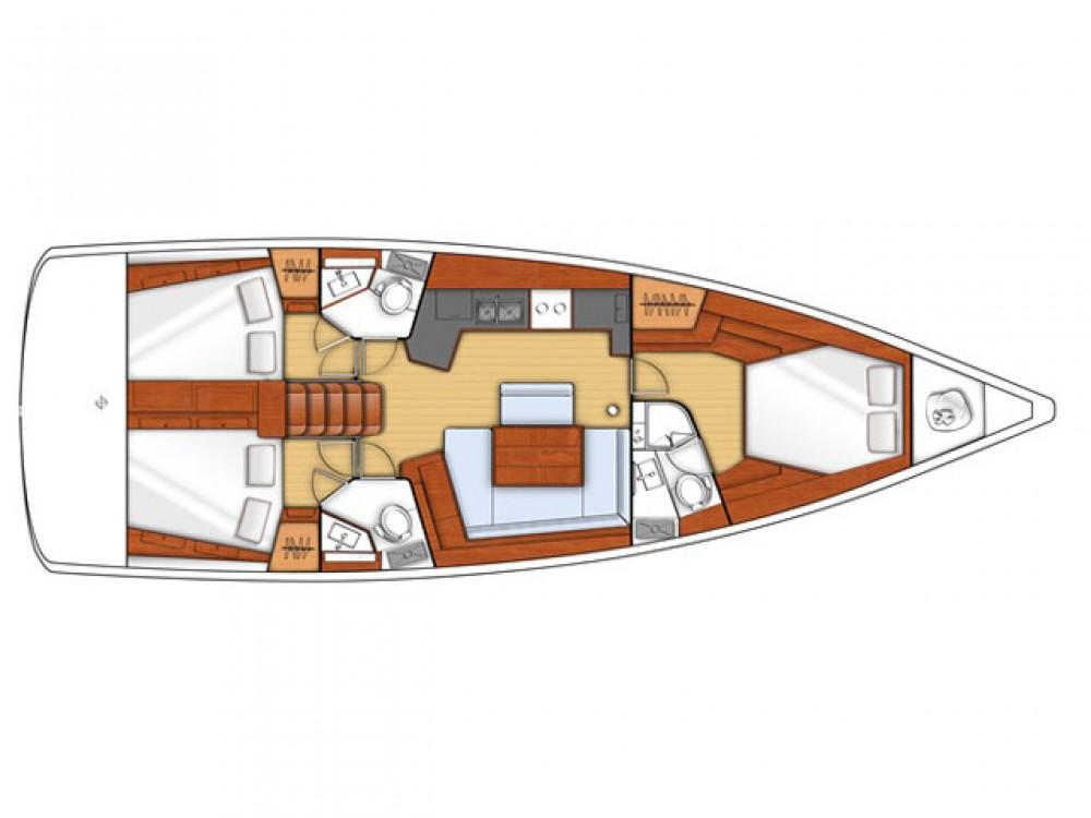 Rent a Bénéteau Oceanis 45 (3 cbs) Alimos Marina