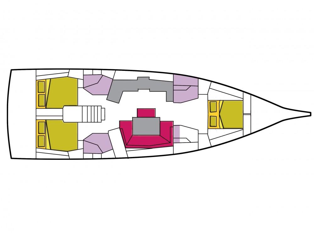 Rent a Bénéteau Oceanis 46.1 (3 cab) Cala dei Sardi