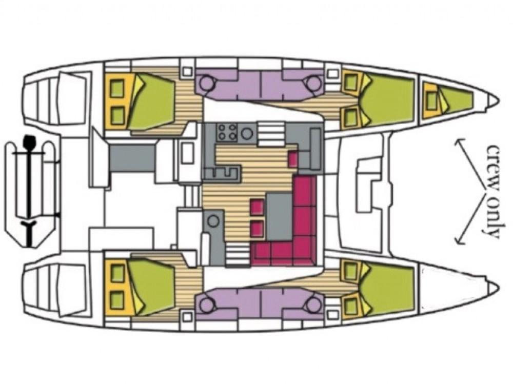 Rental Catamaran in Olbia - Lagoon Lagoon 450F