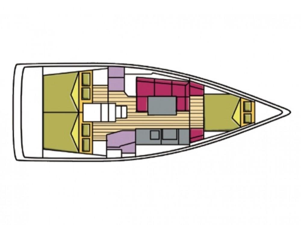 Boat rental Olbia cheap Oceanis 38