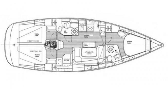 Boat rental Skiathos cheap Bavaria 39 Cruiser