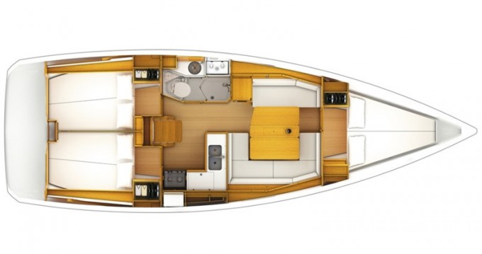Jeanneau Sun Odyssey 379 between personal and professional Alimos