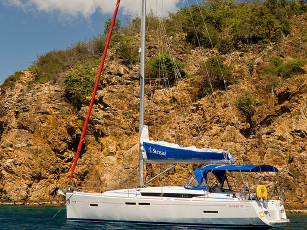 Jeanneau Sunsail 41 between personal and professional Road Town