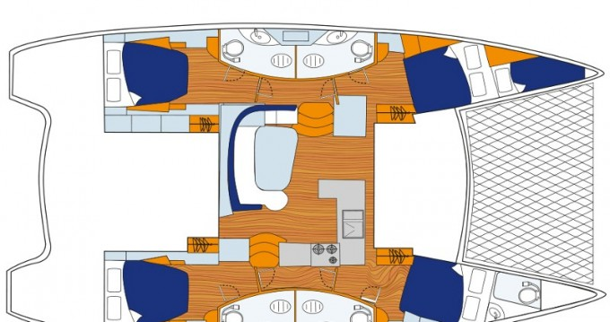 Leopard Sunsail 454 between personal and professional Dubrovnik