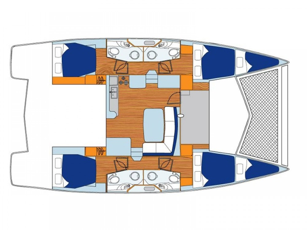 Rental yacht Antigua and Barbuda - Leopard Sunsail 444 on SamBoat