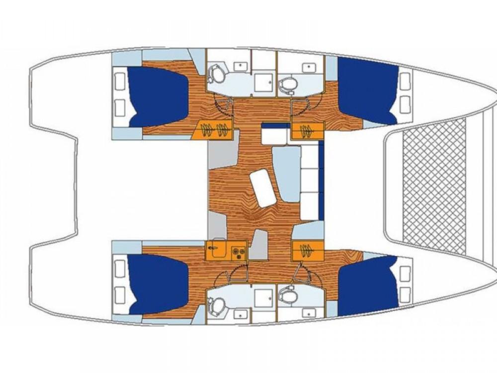 Rental Catamaran in Castries - Lagoon Sunsail 424