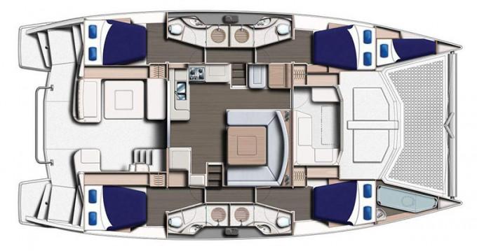 Rental Catamaran in Placentia Village - Leopard Moorings 4800