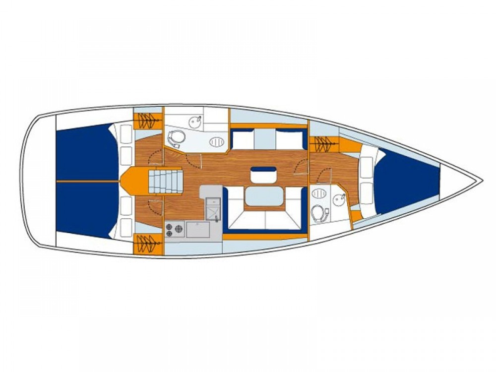 Boat rental Jeanneau Sunsail 41 in Marina on Samboat