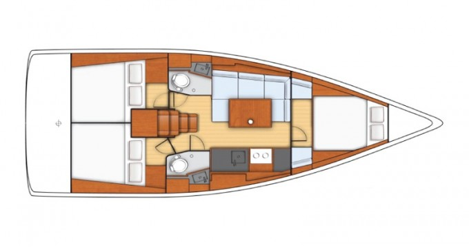 Jeanneau Sunsail 38 between personal and professional Tropea