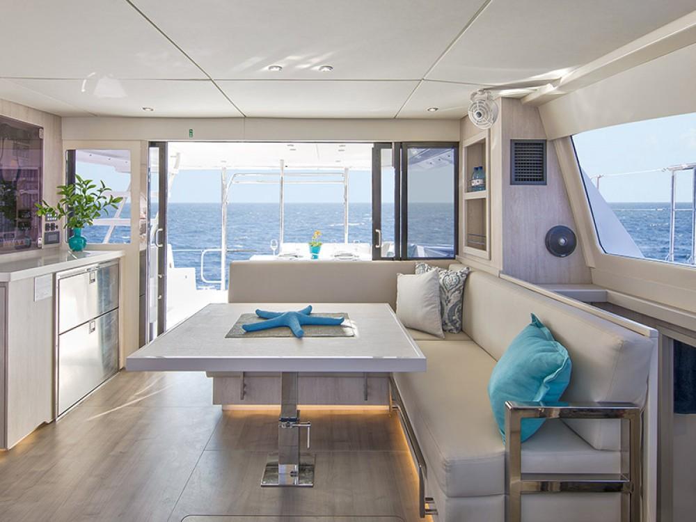 Rental Catamaran in Marina - Leopard Moorings 434 PC