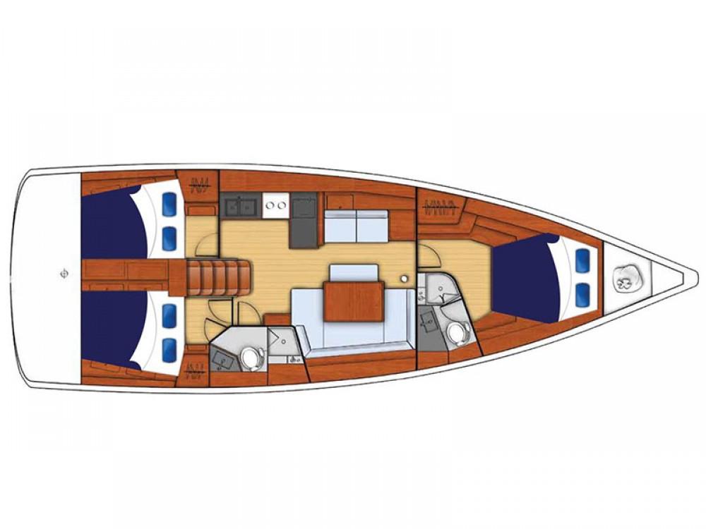 Rental Sailboat in  - Bénéteau Moorings 45