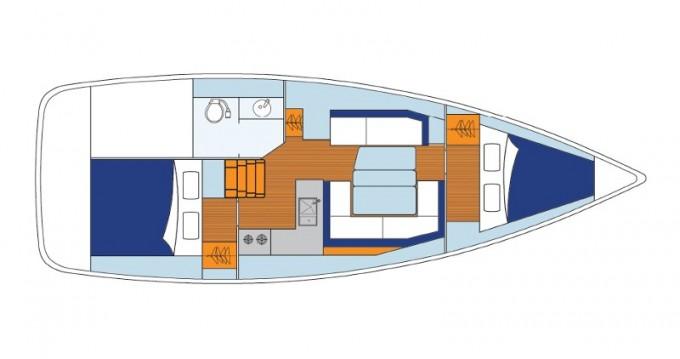 Rental yacht  - Jeanneau Sunsail 34- 2/1 on SamBoat