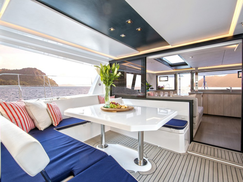 Hire Catamaran with or without skipper Leopard Saint Martin
