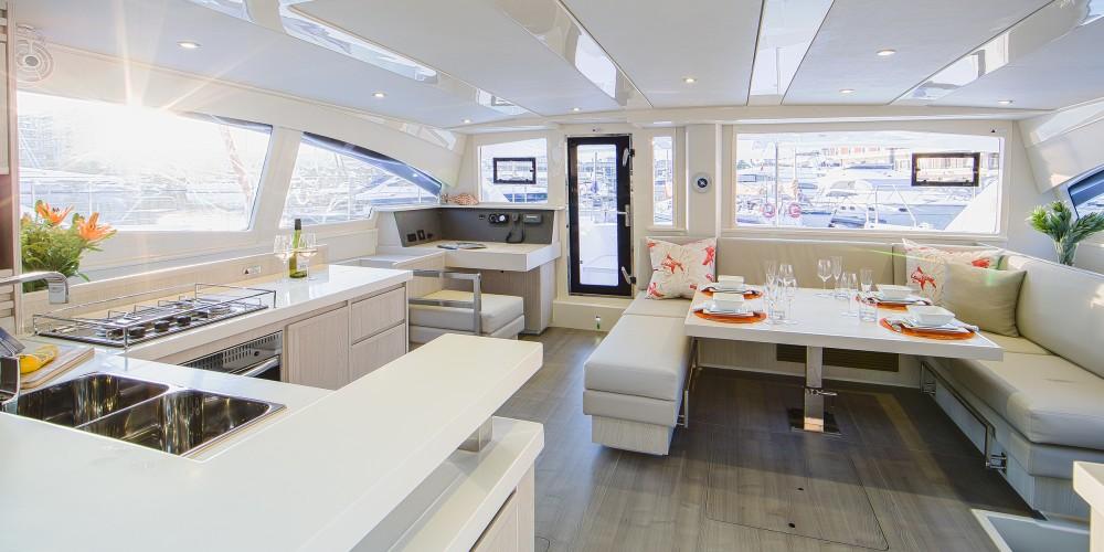 Rental Catamaran in Port Louis Marina - Leopard Moorings 4800