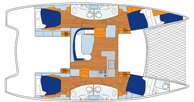 Rental Catamaran in Road Town - Leopard Sunsail 454L