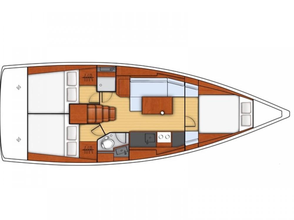 Rental Sailboat in Lefkada - Jeanneau Sunsail 38