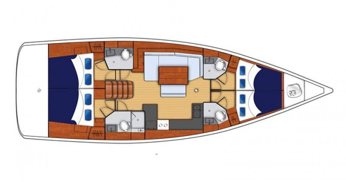 Rental Sailboat in Gouvia - Bénéteau Moorings 48.4
