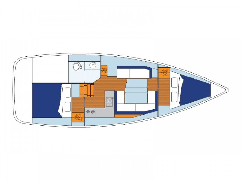 Jeanneau Sunsail 34- 2/1 between personal and professional Komolac
