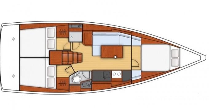 Rental yacht Lefkada (Island) - Jeanneau Sunsail 38 on SamBoat