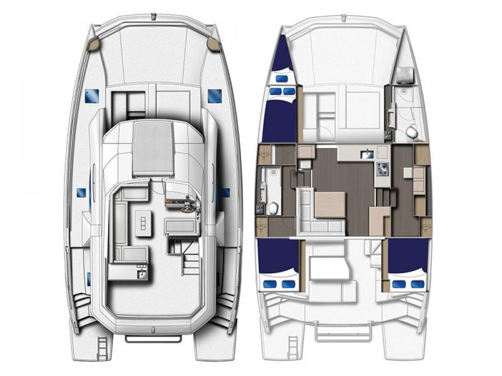 Rental Catamaran in Road Town - Leopard Moorings 433 PC